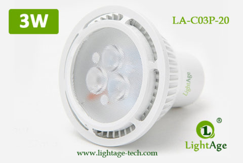 LA-C03P-20 3W LED Lamp Cup White Spot Light