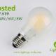 A60-A19 led filament bulb Frosted 2W,4W,6W,8W
