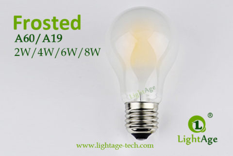 A60-A19 led filament bulb Frosted2 2W,4W,6W,8W