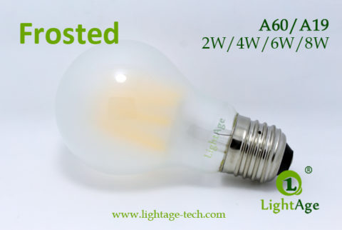 A60-A19 led filament bulb Frosted3 2W,4W,6W,8W