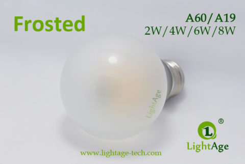 A60-A19 led filament bulb Frosted4 2W,4W,6W,8W