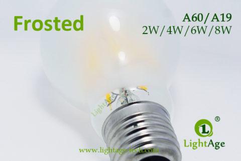 A60-A19 led filament bulb Frosted5 2W,4W,6W,8W