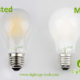 A60-A19 led filament bulb Milky-frosted 2W,4W,6W,8W
