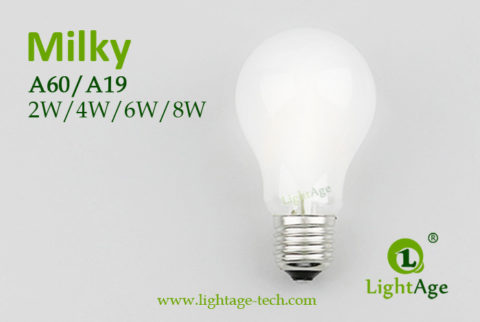 A60-A19 led filament bulb Milky2 2W,4W,6W,8W