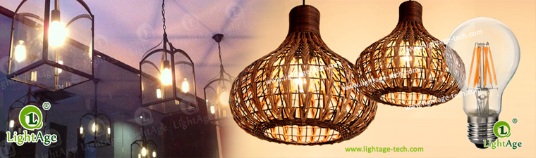 Clear A60 LED filament bulb 2W 4W 6W 8W Application