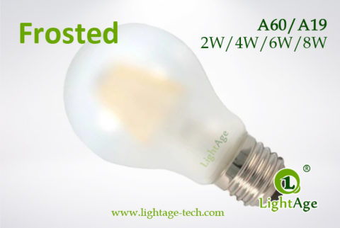 Frosted A60 A19 led filament bulb 2W,4W,6W,8W