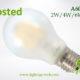 Frosted A60 A19 led filament bulb 2W,4W,6W,8W