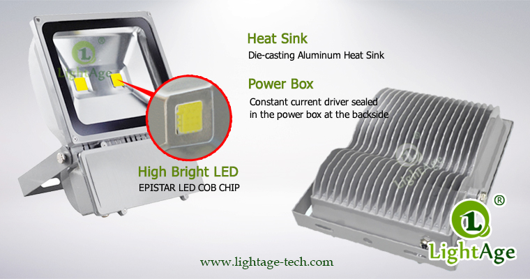 100W COB LED Flood Light Stand Type LA-FL04 details