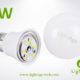 LA-B-Q48 3W White LED Bulb PC with AL 2