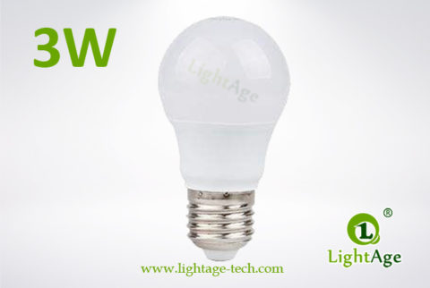 LA-B-Q48 3W White LED Bulb PC with AL 3