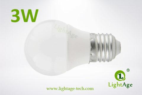 LA-B-Q48 3W White LED Bulb PC with AL 4