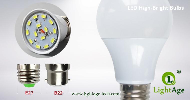 LA-B-Q48 White LED Bulb PC with high bright chip