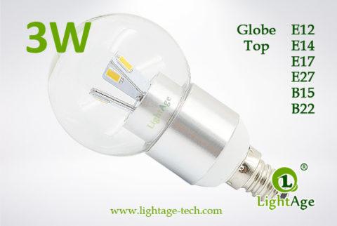 LA-B03-G05 3W LED Bulb Clear Globe