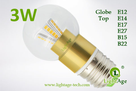 LA-B03-G05 3W LED Bulb Clear Globe golden base2