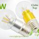 LA-B03-G05 3W LED Bulb Clear Globe3