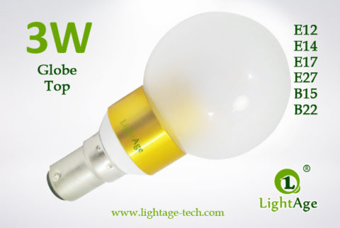 LA-B03-G05 3W LED Bulb Frosted Globe golden base2