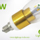 LA-B03-R05 3W LED Candle Light Clear Round Tip6 golden base