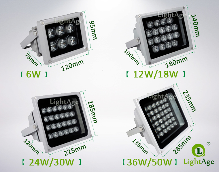 LA-FL03 Series LED FLood Light Dimension