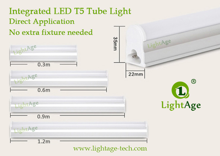 T5 Integrated LED Tube Series Size