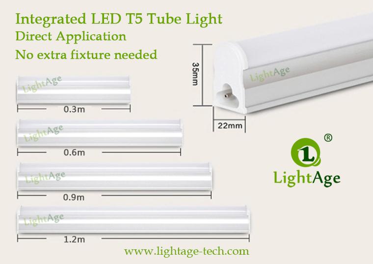 Economic Fixture Led T5 Tube 95lm W 2 4ft Lightage 174