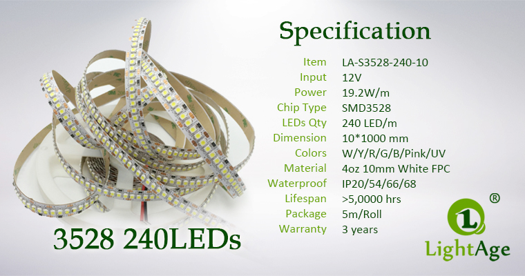 02-LightAge LED Strip 3528-240-10mm Specification