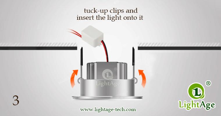 LED Ceiling Light Down Light LA-CL82 Installation-03