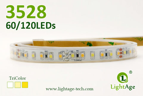 LightAge LED Strip 3528 CW+WW TriColor Strip 05