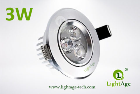 LA-CL82-3W LED Down Light Silver Blade 01