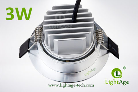 LA-CL82-3W LED Down Light Silver Blade 03