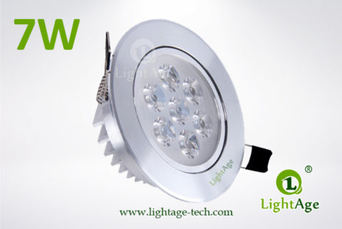 LA-CL82-7W LED Down Light Silver Blade 01