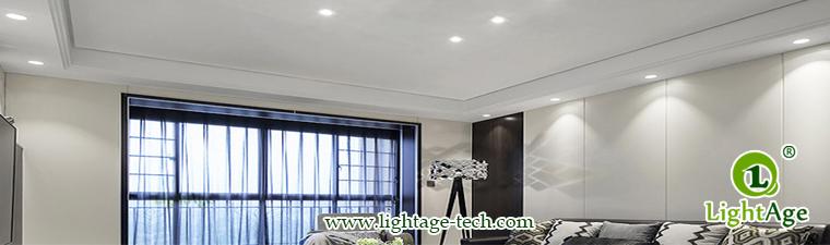 LA-CL82-7W LED Down Light Silver Blade Application