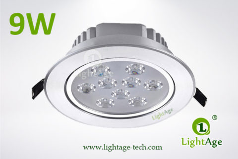 LA-CL82-9W LED Down Light Silver Blade 02