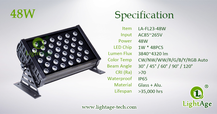 LA-FL23-48W LED Flood Light Specification