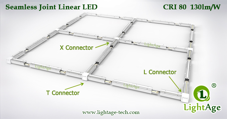 130lmW Warm White Cool White Jointable LED Linear Light LightAge Connection