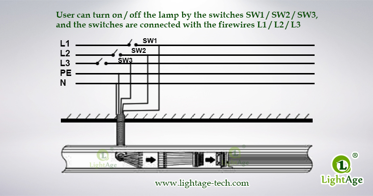 130lmW Warm White Cool White Jointable LED Linear Light LightAge TK205 Wiring