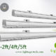 2ft 4ft 5ft LED Linear Light 24W 40W 60W 130lmW Ra80 LightAge 03