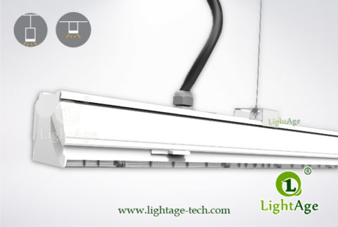 2ft 4ft 5ft LED Linear Light 24W 40W 60W 130lmW Ra80 LightAge 04