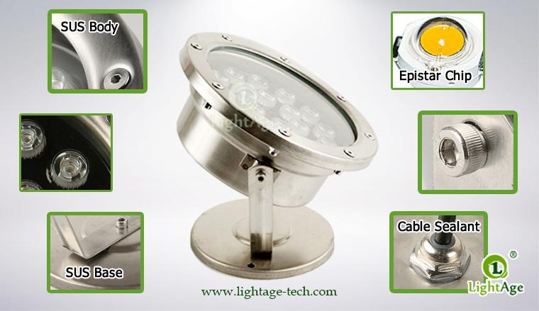 LightAge LA-PU02-18W LED Pool Light 18W Details
