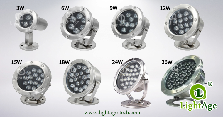 LightAge LA-PU02 LED Pool Light Series 3W~36W Underwater light