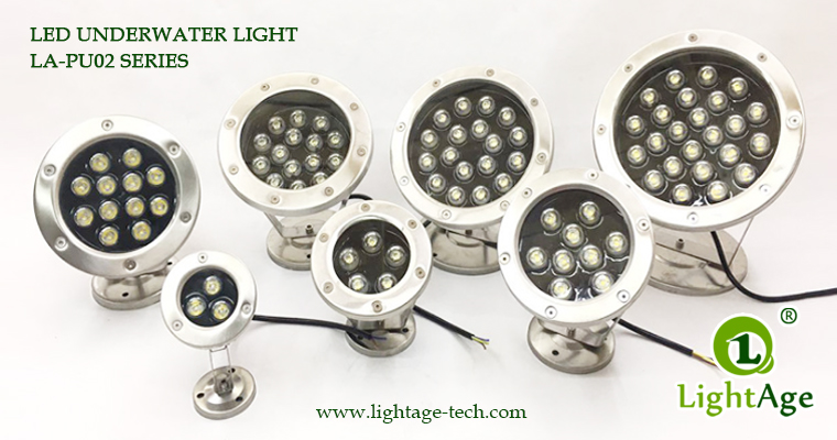 LightAge LA-PU02 LED Pool Light Series 3W~36W Underwater lightS