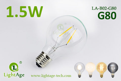 1.5w G80 LED Globe light