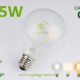1.5w G95 LED Globe bulb