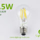 3.5W A60-A19 led filament bulb Clear
