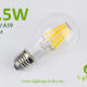 6.5W A60-A19 led filament bulb Clear