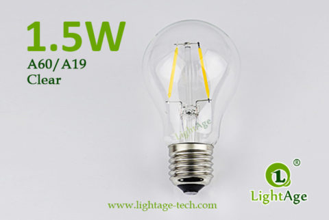A60-A19 led filament bulb Clear 1.5W