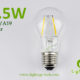 A60-A19 led filament bulb Clear 1.5W