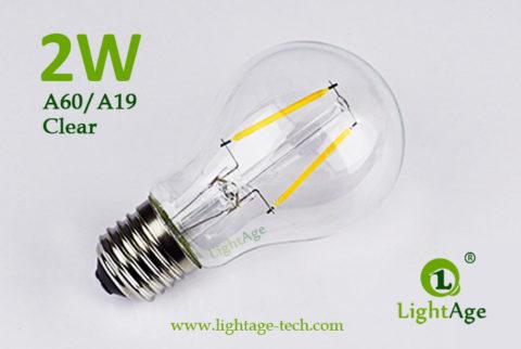 A60-A19 led filament bulb Clear 2W-4