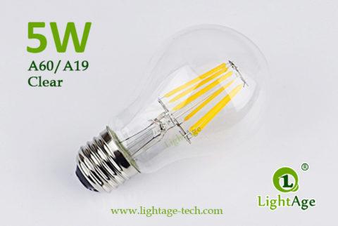 A60-A19 led filament bulb Clear 5W