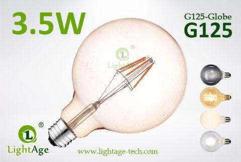 G125 LED Bulb smoked 4w filament bulb