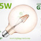 G125 LED Bulb smoked 4w filament bulb